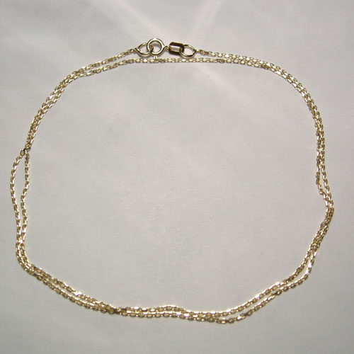 14 kt. y.g. 18 inch diamond cut cable link chain