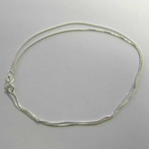 18 inch sterling silver box chain