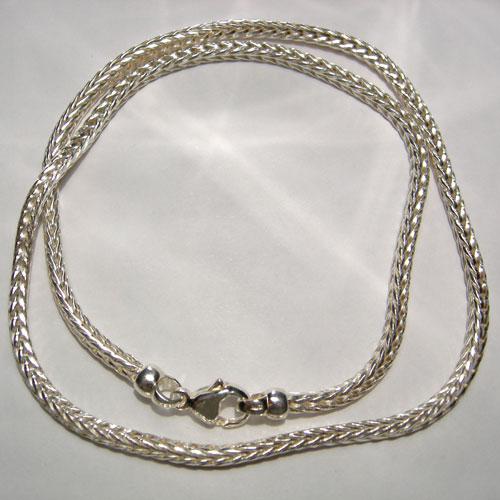 Sterling Silver wheat link chain