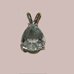 14 kt.w.g. pear shaped Aquamarine pendant