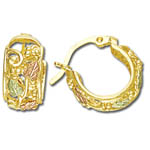 Landstrom's Black Hills Gold huggies style hoop earrings