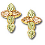 Landstrom's Black Hills Gold cross post earrings