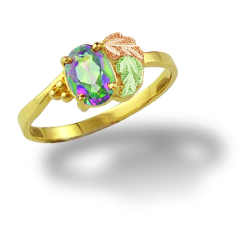 Landstrom's Black Hills Gold Mystic Fire Topaz ring