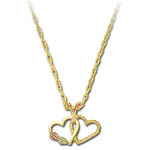 Landstrom's Black Hills Gold double heart necklace