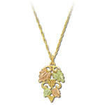 Landstrom's Black Hills Gold grape and leaf cluster necklace