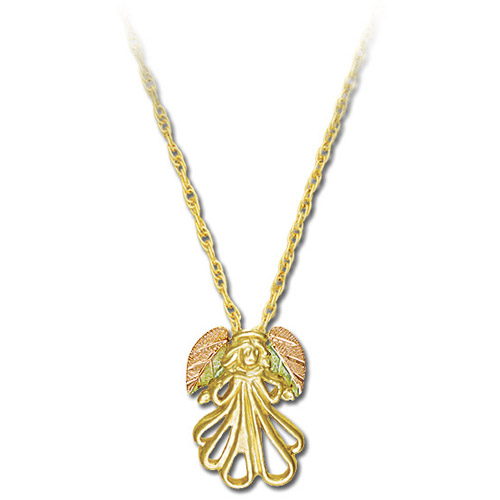 Landstrom's Black Hills Gold angel necklace