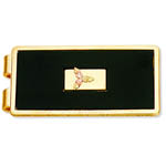 Landstrom's Black Hills Gold black enamel money clip