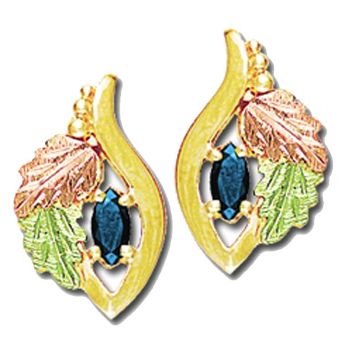 Landstrom's Black Hills Gold Tanzanite earrings