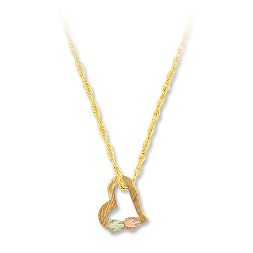 Landstrom's Gold Black Hills Gold rose gold floating heart necklace