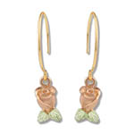 Landstrom's Black Hills Gold dangle rose earrings