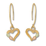 Landstrom's Black Hills Gold dangle heart earrings