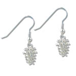 Landstrom's Black Hills Gold Sterling Silver pine cone earrings