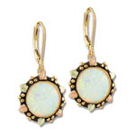 Landstrom's Black Hills Gold circular Opal dangle earrings