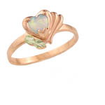 Landstrom's Black Hills Gold Rose Gold Opal ring