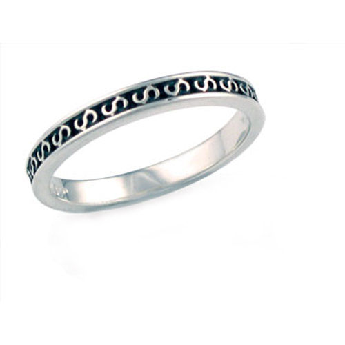 Landstrom's Black Hills Gold Sterling Silver S stackable ring