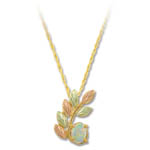 Landstrom's Black Hills Gold Opal necklace