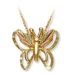 Landstrom's Black Hills Gold butterfly necklace