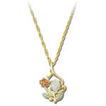 Landstrom's Black Hills Gold rose and Opal necklace