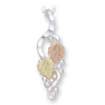 Landstrom's Black Hills Gold Sterling Silver grape and leaf necklace