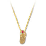 Landstrom's Black Hills Gold sandal and syntetic ruby necklace