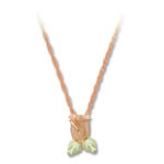 Landstrom's Black Hills Gold rose gold rose blossom necklace