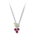 Landstrom's Black Hills Gold Sterling Silver synthetic ruby necklace