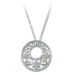 Landstrom's Black Hills Gold Sterling Silver circular necklace