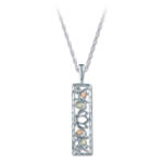 Landstrom's Black Hills Gold Sterling Silver rectangular necklace