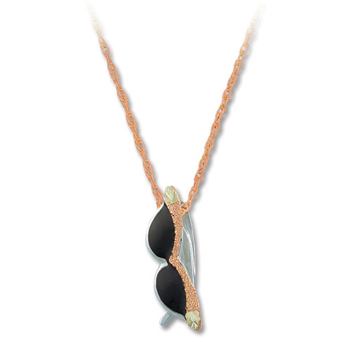 Landstrom's Black Hills Gold Rose Gold sunglasses necklace