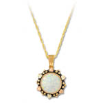 Landstrom's Black Hills Gold circular Opal necklace