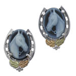 Landstrom's Black Hills Gold Sterling Silver Cameo earrings