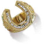 Landstrom's Black Hills Gold diamond horseshoe ring