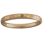 Landstrom's Black Hills Gold Rose Gold bangle bracelet