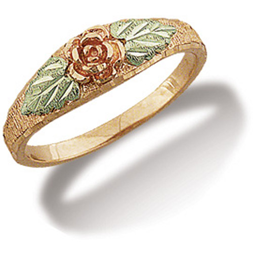 Landstrom's Black Hills Gold rose gold rose ring