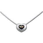 Landstrom's Black Hills Gold Sterling Silver heart diamond necklace