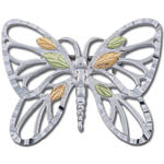 Landstrom's Black Hills Gold Sterling Silver butterfly brooch