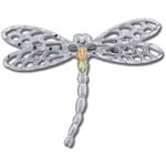 Landstrom's Black Hills Gold Sterling Silver dragonfly brooch
