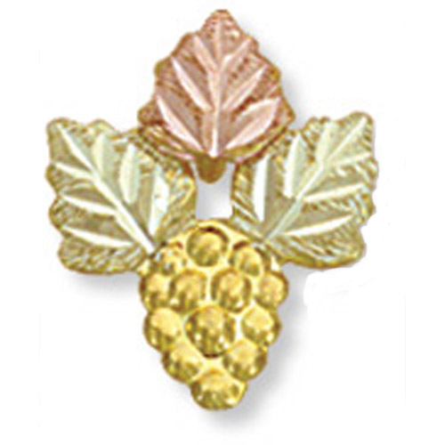 Landstrom's Black Hills Gold rose and green gold leaf brooch