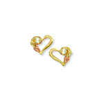 Landstrom's Black Hills Gold pearl and heart earrings