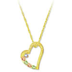Landstrom's Black Hills Gold diamond heart necklace