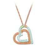 Landstrom's Black Hills Gold Sterling Silver and rose gold heart necklace