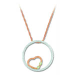 Landstrom's Black Hills Gold heart inside circle necklace