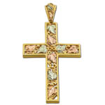 Landstrom's Black Hills Gold leaf cross necklace