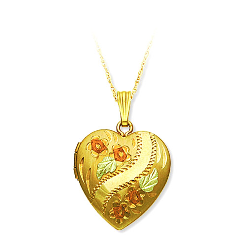 Landstrom's Black Hills Gold heart shaped locket
