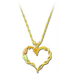 Lnadstrom's Black Hills Gold leaf and heart necklace