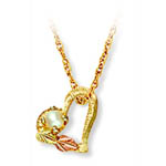 Landstrom's Black Hills Gold pearl heart necklace