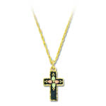 Landstrom's Black Hills Gold antiqued cross necklace