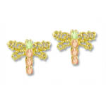 Landstrom's Black Hills Gold dragonfly earrings