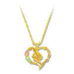 Landstrom's Black Hills Gold heart necklace
