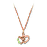Landstrom's Black Hills Gold Rose Gold double heart necklace
